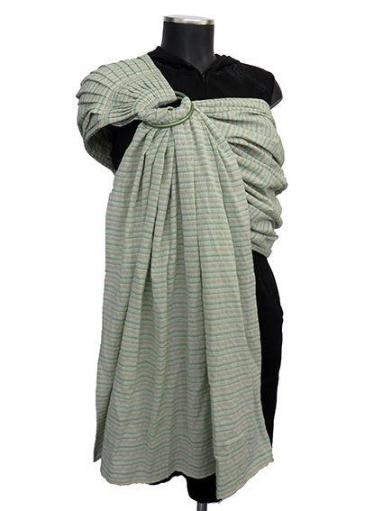 Από το ύφασμα: Υφαντό βαμβακερό με οριζόντιες ρίγες σε τόνους πράσινο - λαχανί (1904) Μέγεθος: Κανονικό