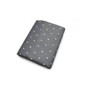 Olli + Lime - XX Crib Sheet - Charcoal