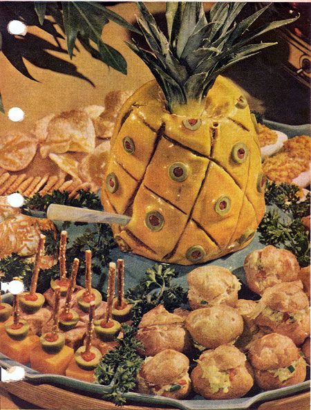 1953 Better Homes and Gardens Cookbook is a Liver Sausage Pineapple