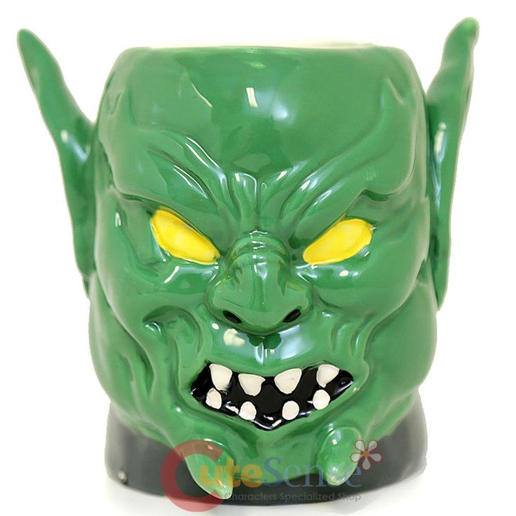 Marvel Spiderman Goblin Face Molded Coffee Mug Cup Licensed  #MarvelSpiderman
