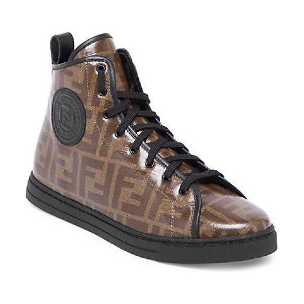 Fendi Logo High-Top Sneakers   Fendi