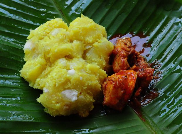 Kappayum Meenum (boiled tapioca in coconut with Kerala fish curry) ~ taste of home