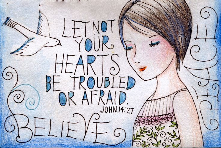 Do not be discouraged by all the problems, troubles, sadness ~~ the things in this world.  Believe on the Lord Jesus Christ and He will give us strength & peace ~ to get through all things!!    BE STRONG IN THE LORD, STANDING UPON HIS WORD!!