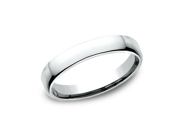 This Classy And Elegant 10 Karat White Gold 3 5mm Wedding Band Features A Slightly Flat Surface Comfort Fit Wedding Ring Wedding Bands Beautiful Bridal Jewelry