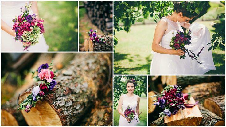 Purple wedding Purple crown