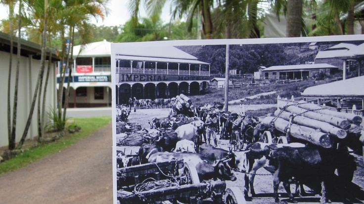now and then photo of Imperial Hotel Eumundi