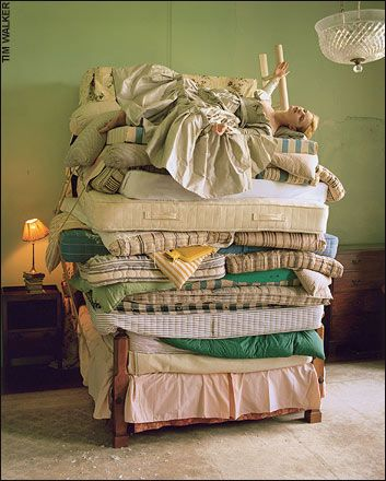 Every little girl needs to sleep on a bed like this once, cause once they fall off they won't be getting back up....