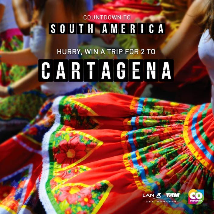 Win a Trip for Two to Cartagena, Colombia!