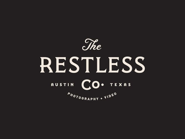 The Restless Co. by Steve Wolf typographic logo serif