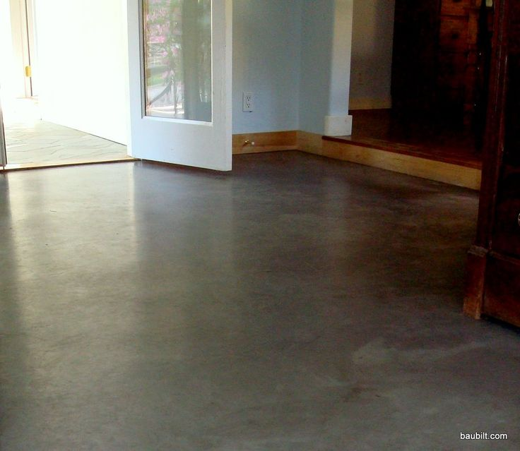 Polished Concrete Floors Residential | Nice basic concrete floor in a house in Sun Valley, Idaho