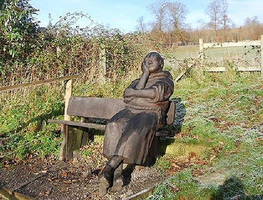 Brother Percival, Harrietsham: This wooden sculpture is between Detling & Lenham on PilgrimsWay. Pilgrims Way is a 120 mile route between Winchester & Canterbury, followed by medieval pilgrims. It follows a pre-historic trackway dated to 500BC.