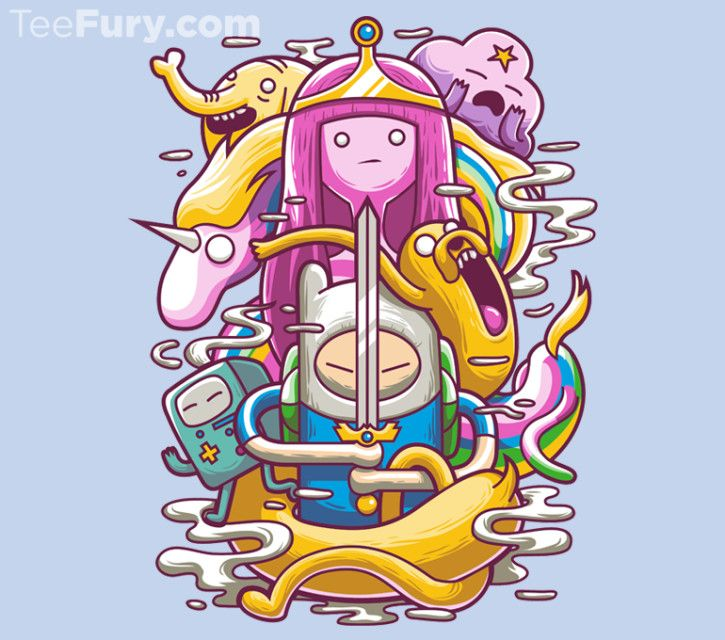Finn, Jake and their friend ready for a great adventure. wanna join them? @teefury