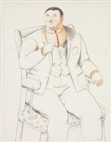 Seated Man by Fernando Botero
