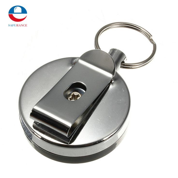 NEW 1 pcs High Quality Stainless Steel Tool Belt Money Retractable Key Chain Clip Key Finder Anti-lost Personal Security Safely
