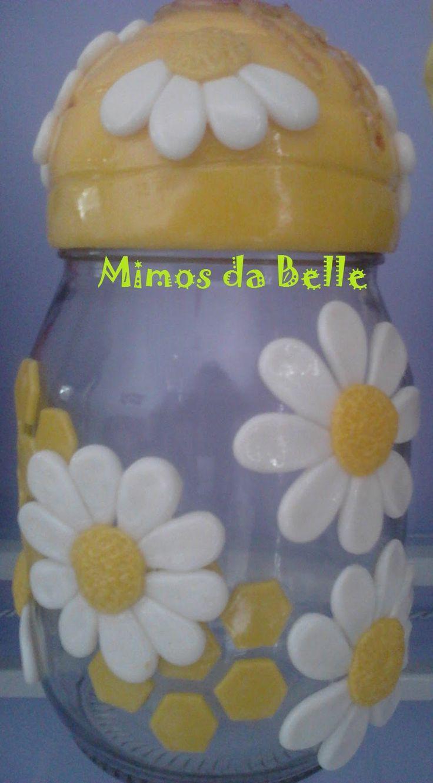 vidros decorados com biscuit de abelha - Pesquisa Google
