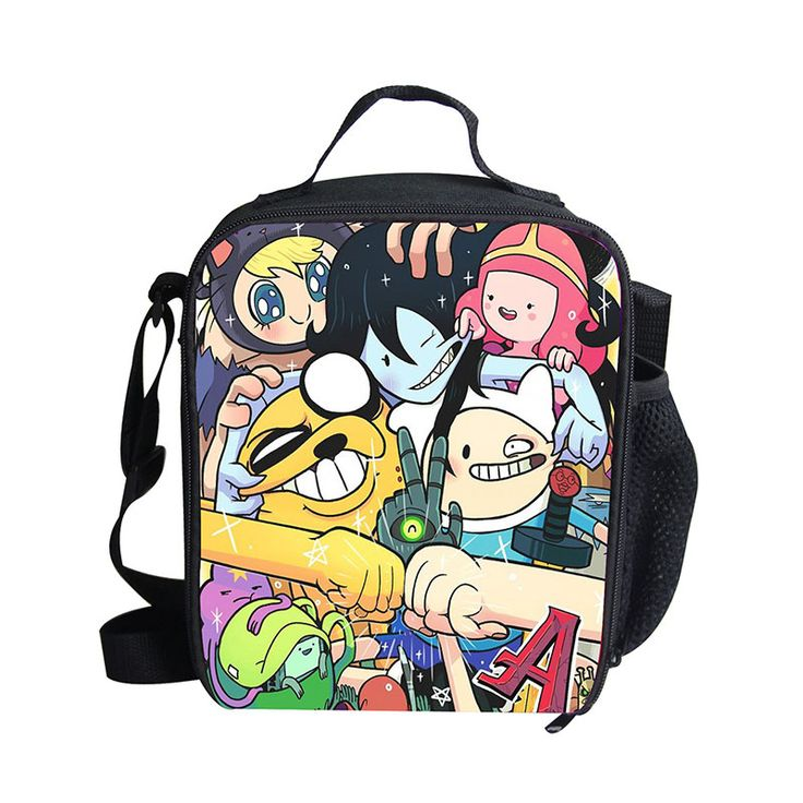 Lunch Kit with Adventure Time PVC Printing