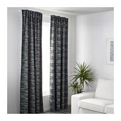 IKEA - SOLIDASTER, Block-out curtains, 1 pair, , The room darkening curtains have a special coating that blocks light from shining through.Effective at keeping out both drafts in the winter and heat in the summer.The curtains can be used on a curtain rod or a curtain track.The heading tape makes it easy for you to create pleats using RIKTIG curtain hooks.You can hang the curtains on a curtain rod through the hidden tabs or with rings and hooks.