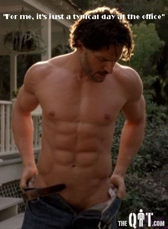 My god...I KNOW I keep posting half naked men...but DAUMN this one raised the temp in the room!!