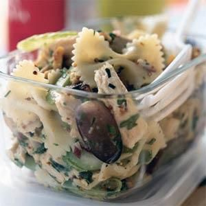 Roasted Chicken and Bow Tie Pasta Salad | MyRecipes.com
