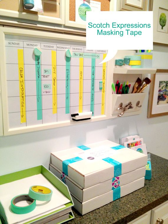 DIY | Get Organized with Scotch Expressions Masking Tape