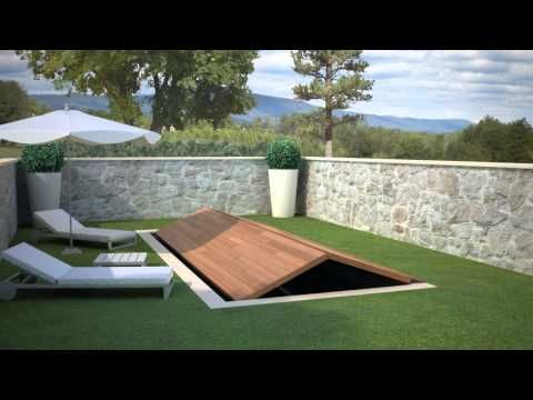 Animación 3D de sistemas de apertura para piscinas 2 - YouTube