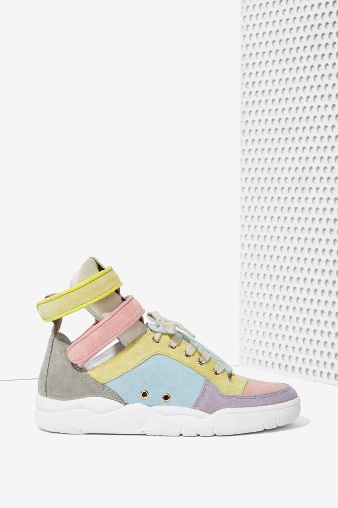 Suede Sneaker - Pastel Multi