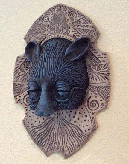 Chris Bivins, Blue Mouse 2014, clay