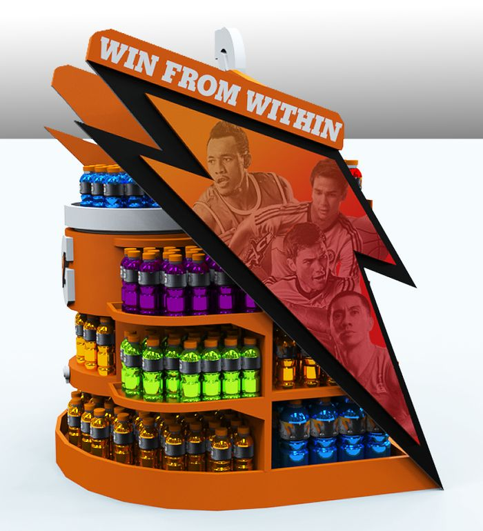 Gatorade MDU (Merchandise Display Unit) by Ezra Arce at Coroflot.com