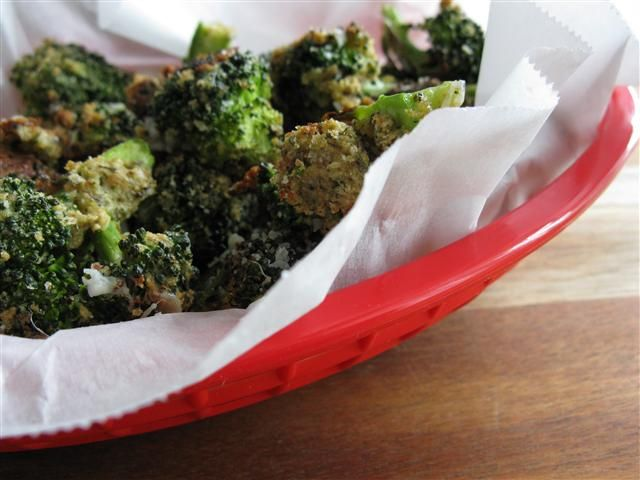 Crispy Parmesan Broccoli - grade c-. This was ok, but not the best broccoli ever. It was not good rewarmed.