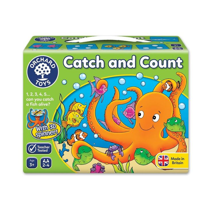 Catch Count Board Game Octopus Spinner Bubble Cards Fishes Educational Play