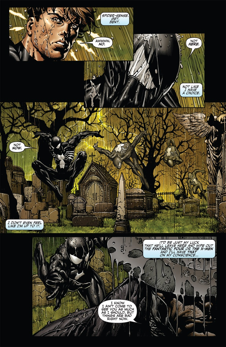 "Spider-Man's, Fallen Son: The Death of Captain America #4 ""Depression"", art by Dave Finch"