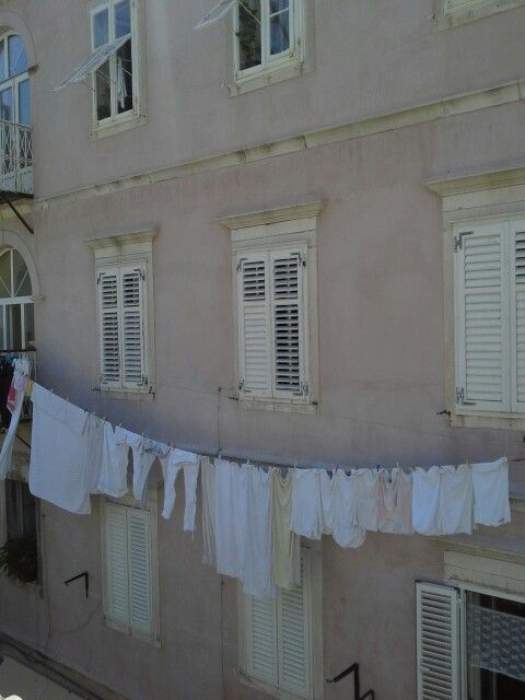 Laundry in Dubrovnik,  Croatia by Pat Johnson