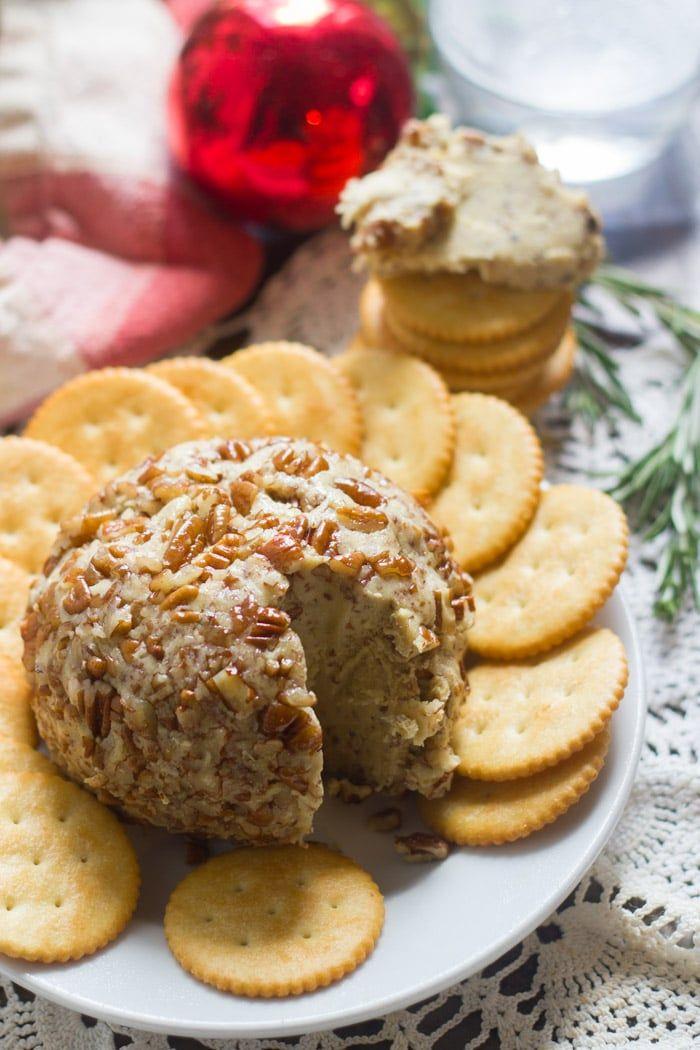 Maple Dijon Vegan Cheese Ball Vegan Cheese Cheese Ball Vegan Snacks