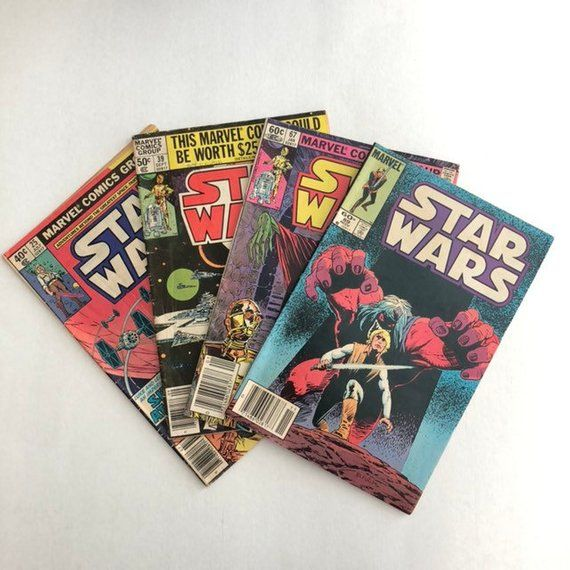 Vintage Star Wars Marvel Comic Books 1970's/80's - Set of 4