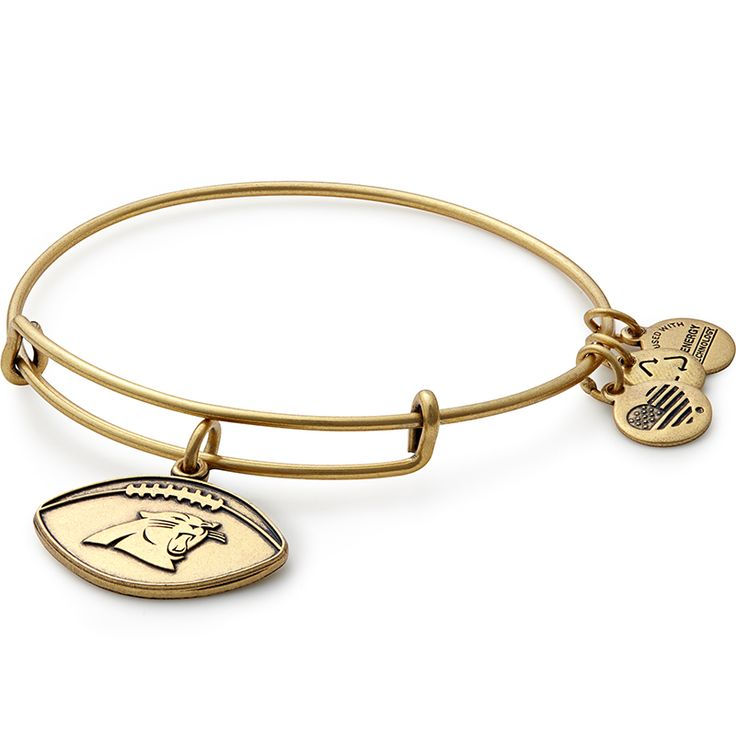 Carolina Panthers Football Charm Bangle