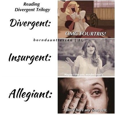 Omg..... I cryed sooooo mutch aften reading allegiant!!! So you are not alone