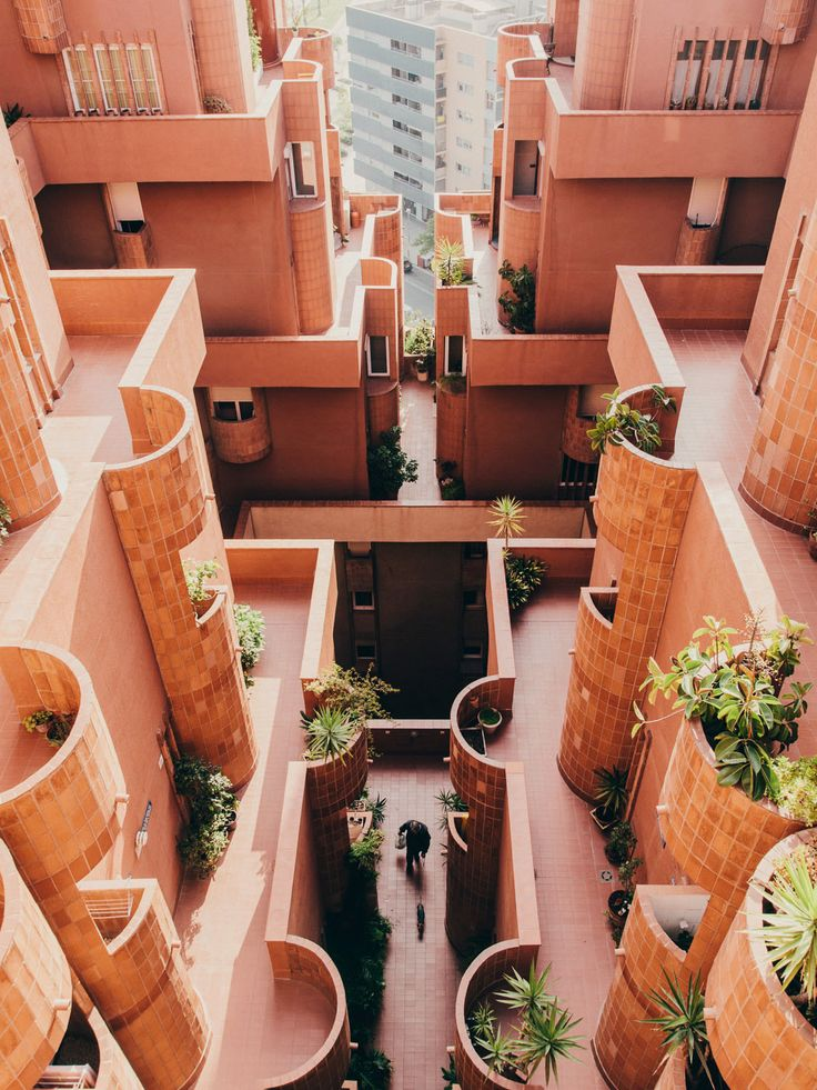 spectacular architecture... Ricardo Bofill's Walden 7 complex - Explore the World with Travel Nerd Nici, one Country at a Time. http://TravelNerdNici.com