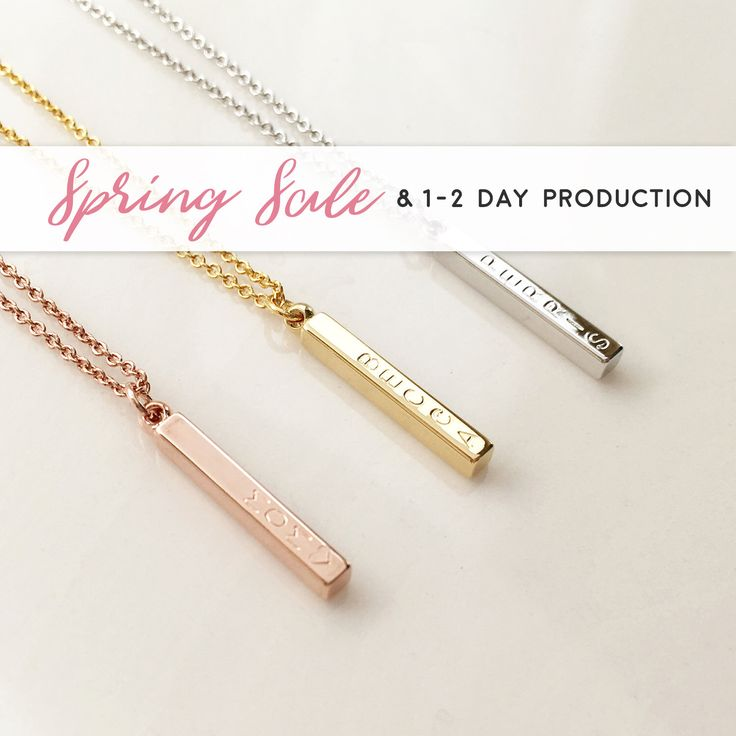 Vertical Bar Necklace, Rose Gold Necklace Pendant necklace personalized friend gift personalized teen new grandma by MignonandMignon on Etsy https://www.etsy.com/uk/listing/241294937/vertical-bar-necklace-rose-gold-necklace