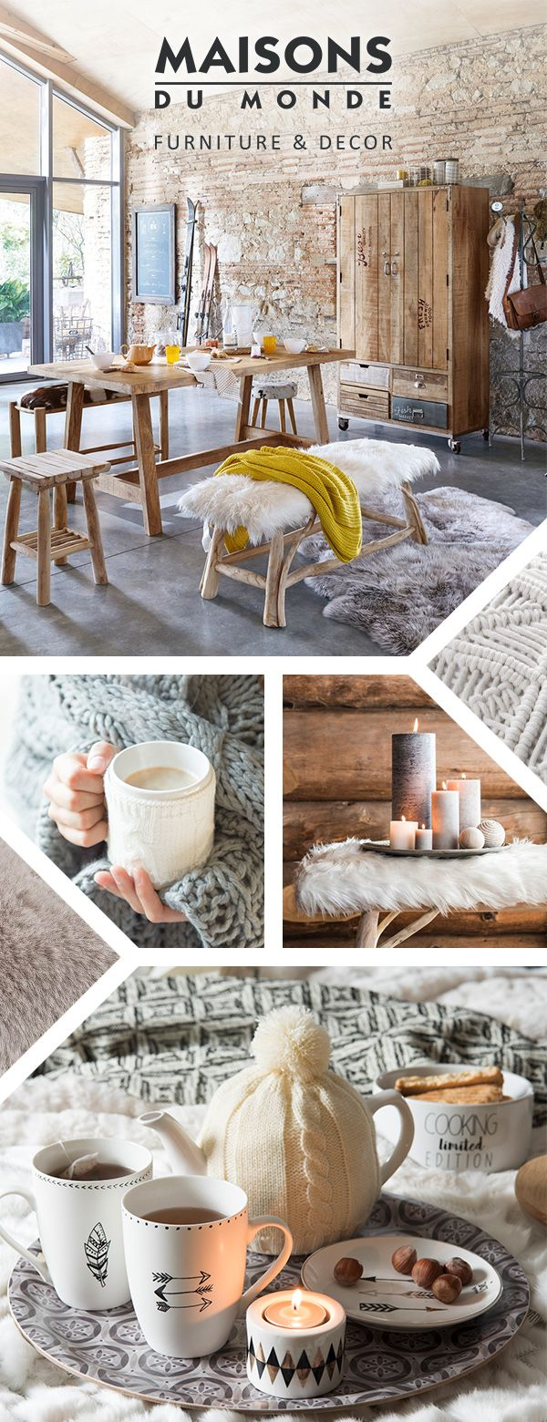 Taking the world by storm, Hygge is the Danish idea that we were more than happy to get on board with! Emphasising cosiness, this way of life spans all manner of things that make you feel all warm-and-fuzzy inside. Think snuggling up on the sofa on a cold night or sipping mulled wine by the fire | Maisons du Monde