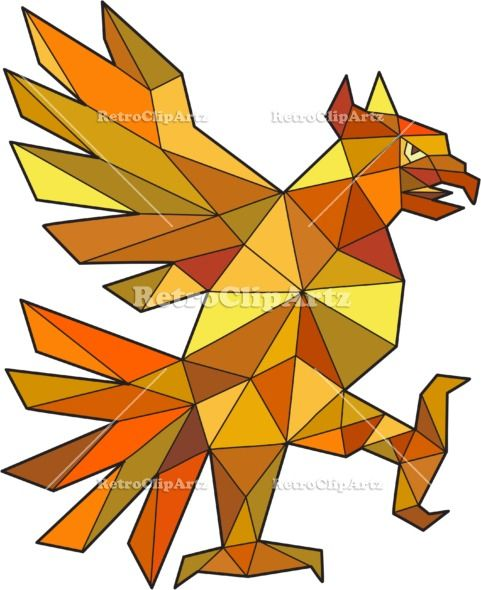 Cuauhtli Glifo Eagle Fighting Stance Low Polygon Vector Stock Illustration.  Low polygon style illustration of a glifo from the azteca's culture of a Cuauhtli showing an eagle in a fighting stance viewed from the side set on isolated white background. #illustration #CuauhtliGlifoEagle