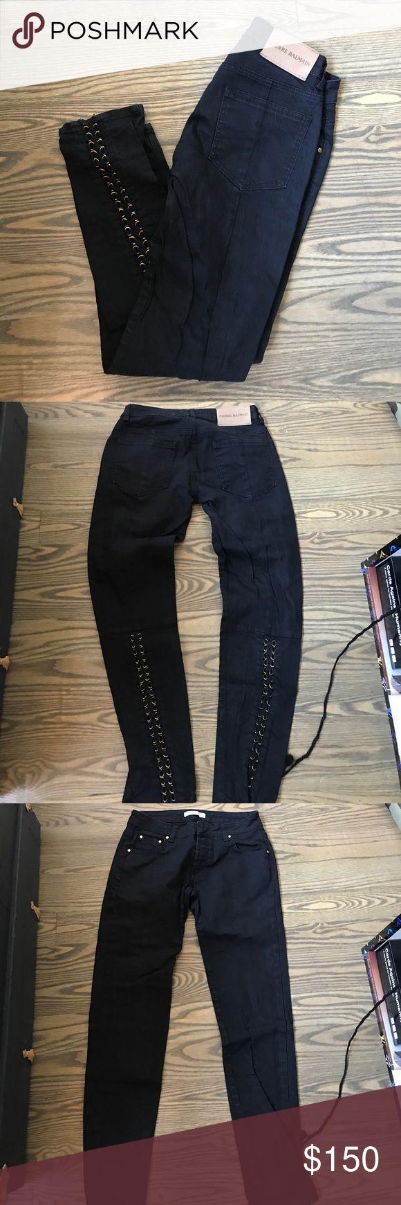 Pierre balmain black denim corset jeans Never worn new with tags Pierre Balmain Jeans