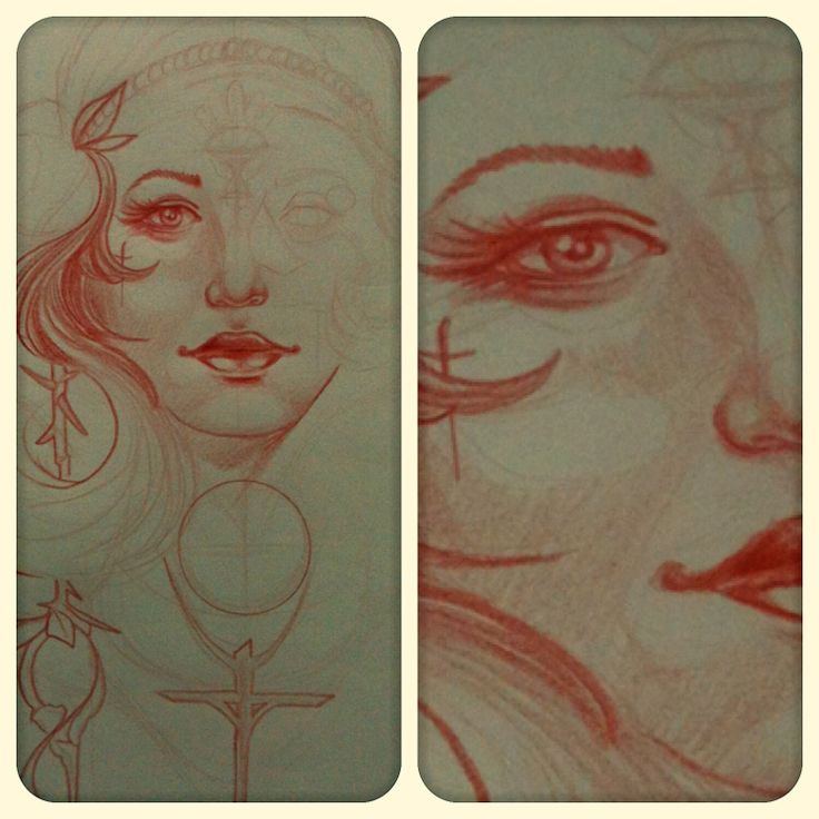 Neo traditional Woman Sketch #neotraditional #sketch #draw #redpencil #redpencilclub