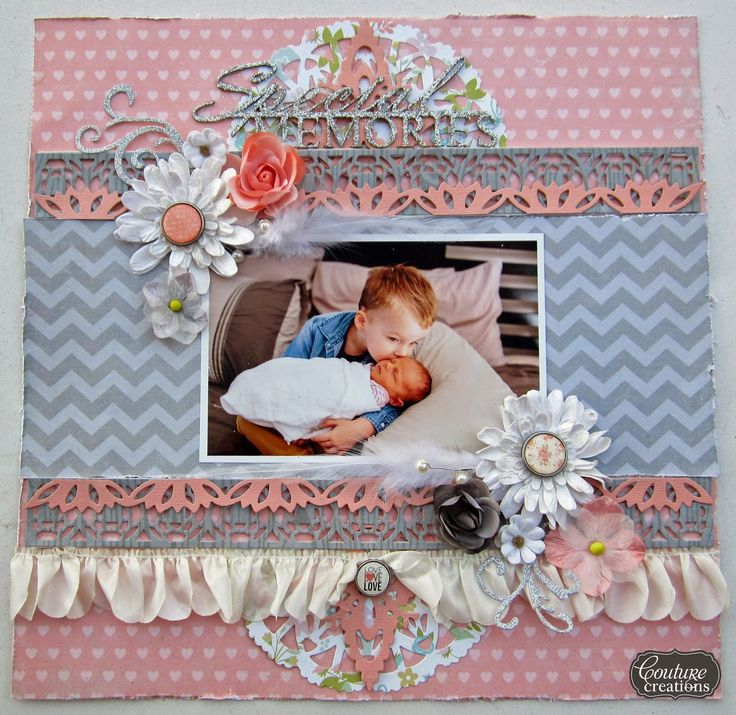 Couture Creations: Special Memories by Kerrie Gurney | #couturecreationsaus #decorativedies #scrapbooking #ornamentallacedies #baby #siblings