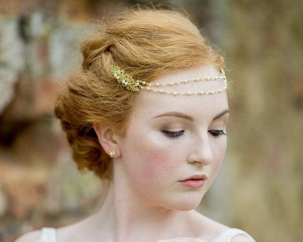 Art Deco Inspired Wedding Browband Headpiece, Bronte