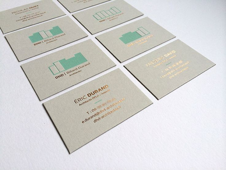 Badcass - Carte de visite en letterpress - Architectes