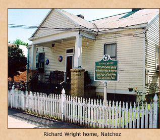 Richard Wright's childhood home in Natchez, Mississippi.