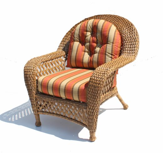 Outdoor Wicker Chair   Montauk Shown In Natural