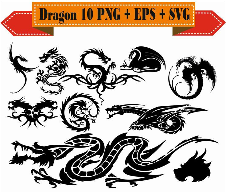 Dragon Ball Dragonfly Age Story King China Claw Pack Silhouette Vector Clipart PNG EPS SVG Digital Files Scrapbook Supplies Instant Download by VectorArtShop on Etsy