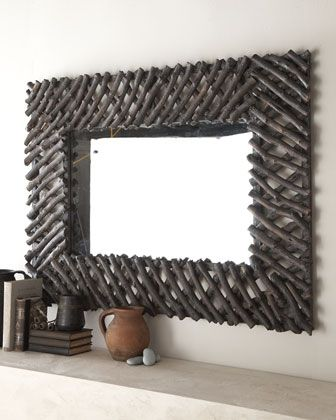 """I think with a lot of time and patience - I could make this? """"Twig"""" Mirror at Horchow."""