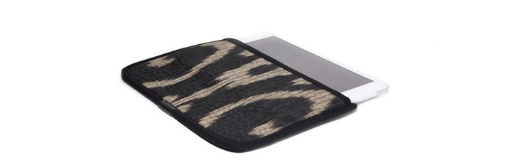 Чехол для Apple iPad Mini, бежевый с черным в черной окантовке